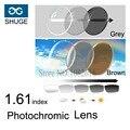 1.61 Index Photochromic Lens Grey or Brown Sunglasses Aspheric Lens Optical Glasses Reading Eyeglasses Ultra Thin Resin Lenses