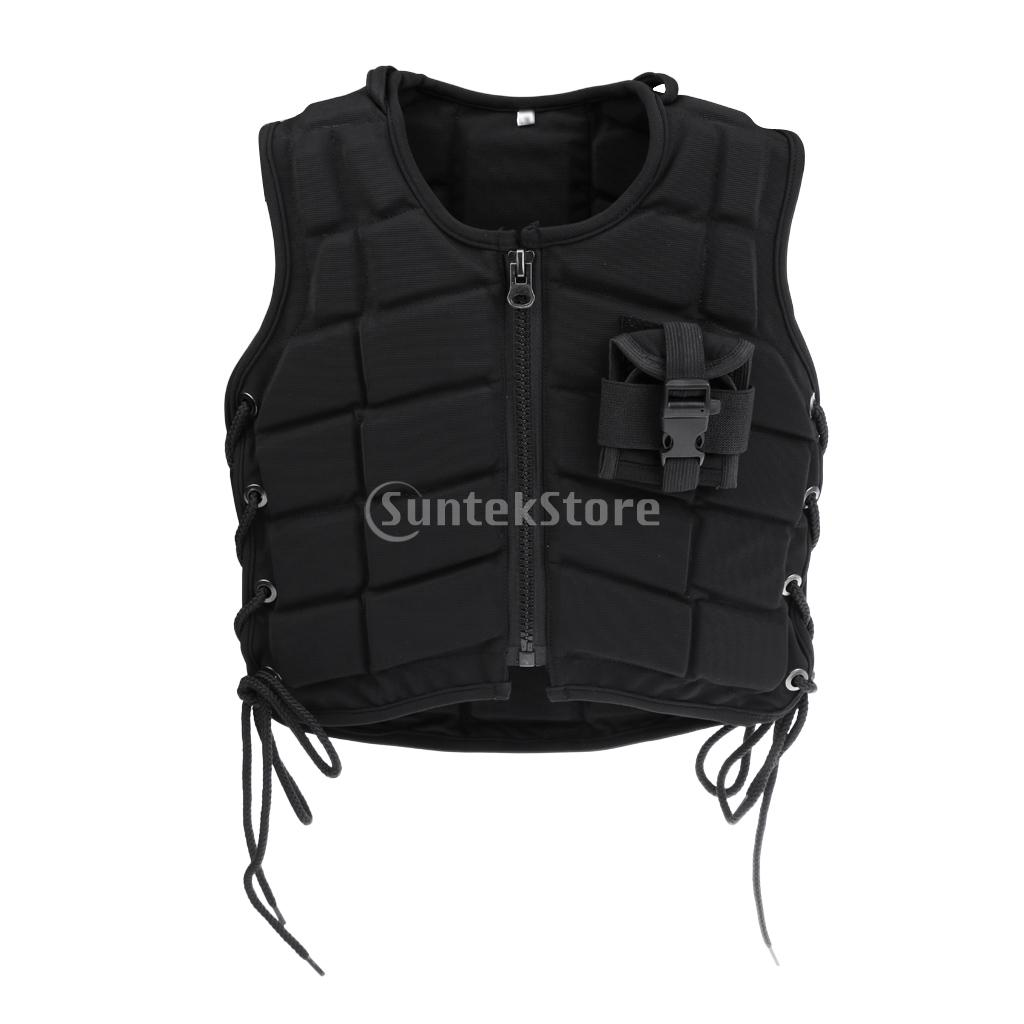 Outdoor Children Equestrian Horse Riding Vest Safety EVA Padded Waistcoat Eventer Body Protector Kids Size outdoor hunting equestrian body protector safety horse riding vest eva padded for adult xl l m s xs hunting vest camping access