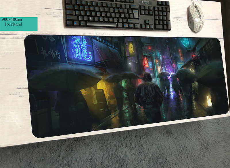 cyberpunk mouse pad 900x400x2mm mats 3d Computer mouse mat gaming  accessories HD pattern large mousepad keyboard games pc gamer