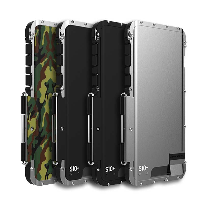 R-JUST Shock Proof Case Flip Aluminum Metal Frame+ PC Protective Armor Case Cover Coque For Samsung Galaxy S10 S10Plus KS0075