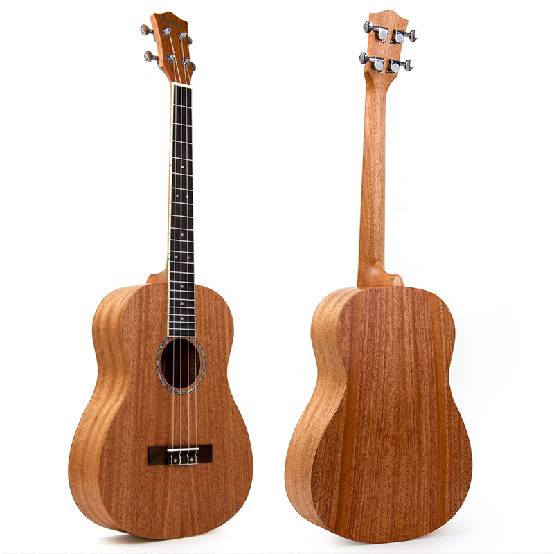 Kmise Baritone Ukulele 30 Inch Mahogany Ukelele Uke 4 String Hawaii Guitar soprano ukulele neck for 21 inch ukelele uke hawaii guitar parts luthier diy sapele veneer pack of 5