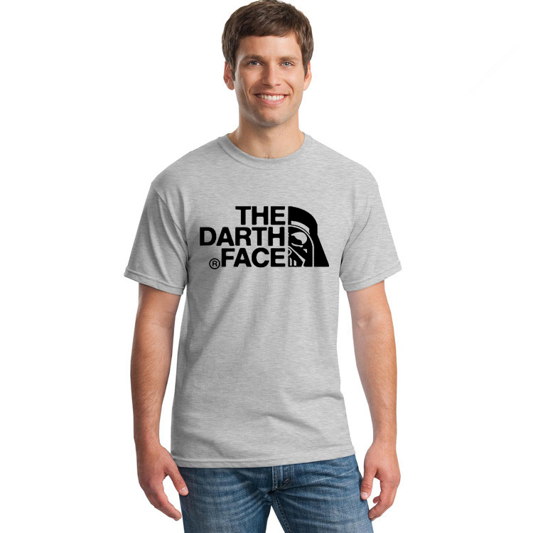 Top quality the darth face t shirts men o neck usa 100 for Mens 100 cotton t shirts