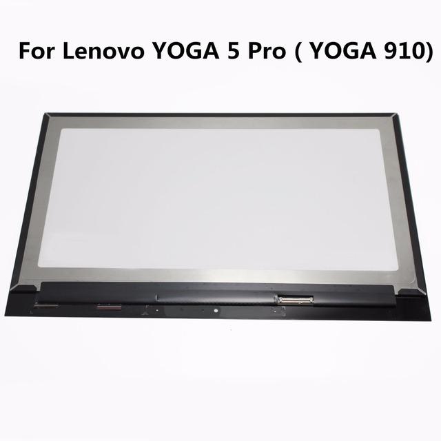 14 pulgadas portátil lcd asamblea para lenovo yoga 5 pro (yoga 910) Pantalla LCD de Pantalla Táctil Digitalizador Reemplazo Panel de Reparación Parte