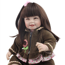 New Arrival 22 inch 55cm Handmade Silicone Reborn Baby Doll Soft Touch Lifelike Realistic Hobbies Baby Dolls
