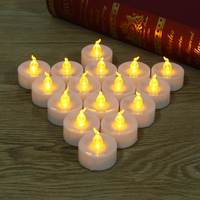 Yellow Flickering Candle LED Light Bulb 16pcs Battery Operated Tea Light Valentine Wedding Decor With Remote