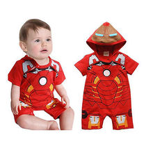 Boy IronMan Party Costume Baby Rompers Outfit One-pieces Clo