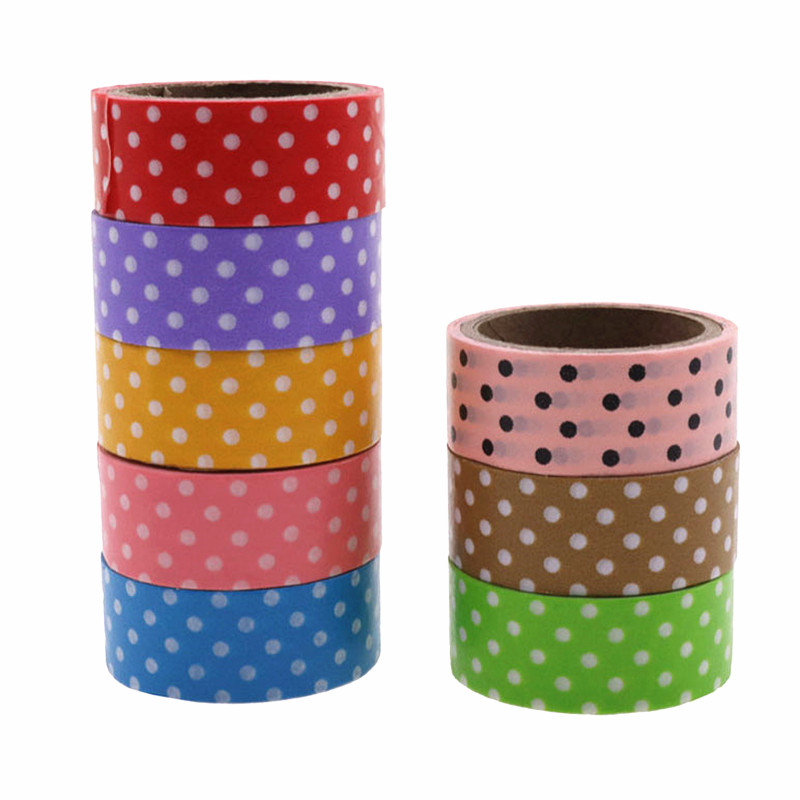 300*1.5cm Masking Tape Single-side Tape Washi Tape 8 Rolls 8 Colors Mixed Student Stationery Album Decoration Multi-purpose Tape