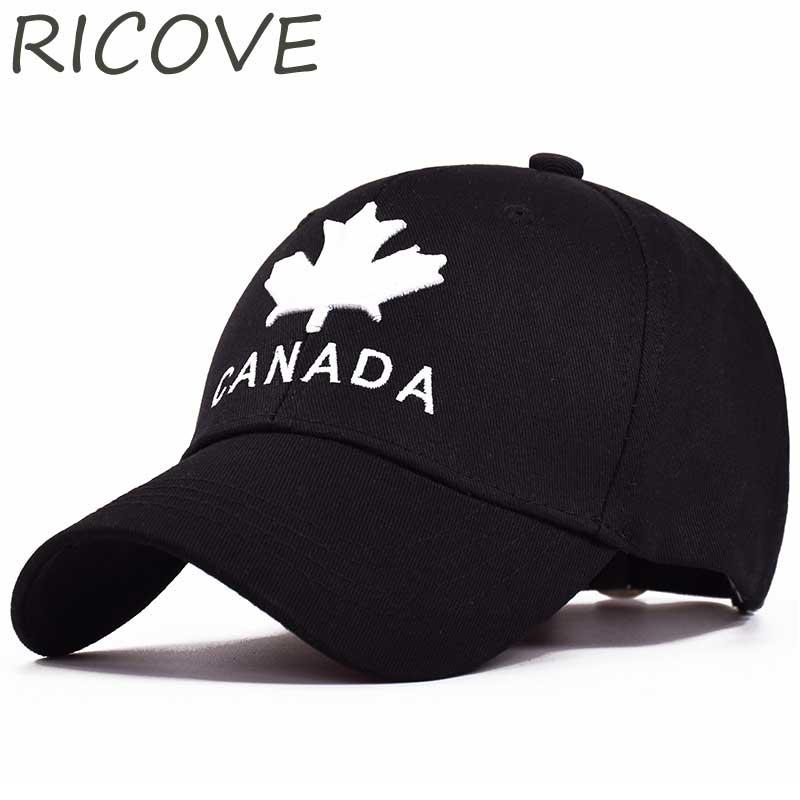 52470ebc9b4 Embroidery CANADA Dad Hat Maple Leaf Cotton Baseball Cap Women Men Trucker  Caps Summer Unisex Snapback