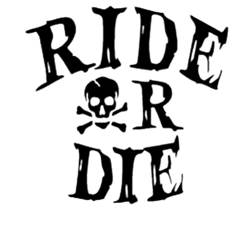 15.2CM*14.9CM Ride Or Die Car Or Truck Window Laptop Decal Sticker Car Styling Decoration Black Sliver C8-1266 car