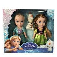 3 pçs/set Disney 16 cm Congelado Princesa Príncipe Boneca Brinquedos Presentes do Aniversário Da Menina Anna Elsa Dolls para Crianças Ano Novo Caixa de presente