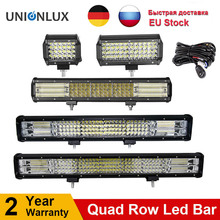 10D Quad שורות 4   36 אינץ LED בר LED אור בר לרכב טרקטור סירת OffRoad מכביש 4WD 4x4 משאית SUV טרקטורונים נהיגה 12V 24V
