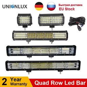 Image 1 - 10D Quad שורות 4   36 אינץ LED בר LED אור בר לרכב טרקטור סירת OffRoad מכביש 4WD 4x4 משאית SUV טרקטורונים נהיגה 12V 24V