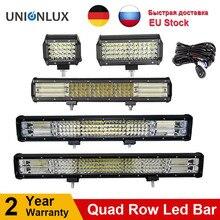 10D Quad Hàng 4   36 Inch LED Thanh Đèn LED Trợ Sáng Cho Xe Máy Kéo Thuyền OffRoad Tắt Đường 4WD 4X4 Xe Tải SUV ATV Lái Xe 12V 24V