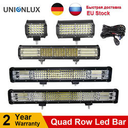 10D Quad Rows 4 - 36 Inch LED Bar LED Light Bar for Car Tractor Boat OffRoad Off Road 4WD 4x4 Truck SUV ATV Driving 12V 24V