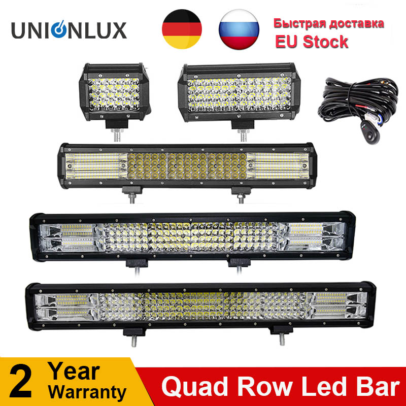 10D Quad Rows 4 - 36 Inch LED Bar LED Light Bar for Car Tractor Boat OffRoad Off Road 4WD 4x4 Truck SUV ATV Driving 12V 24V
