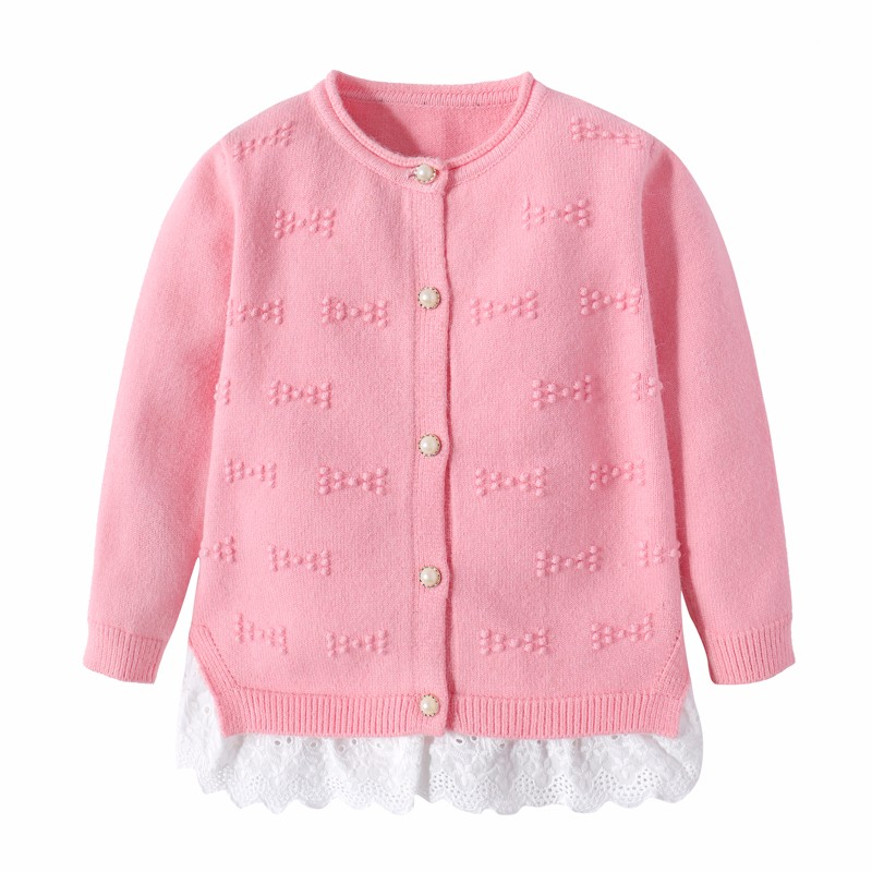 Cotton Girls Sweaters Solid Top With Button Long Sleeve Children Clothes Warm Girl Toddler Cardigan Autumn Winter Kids Sweater (6)