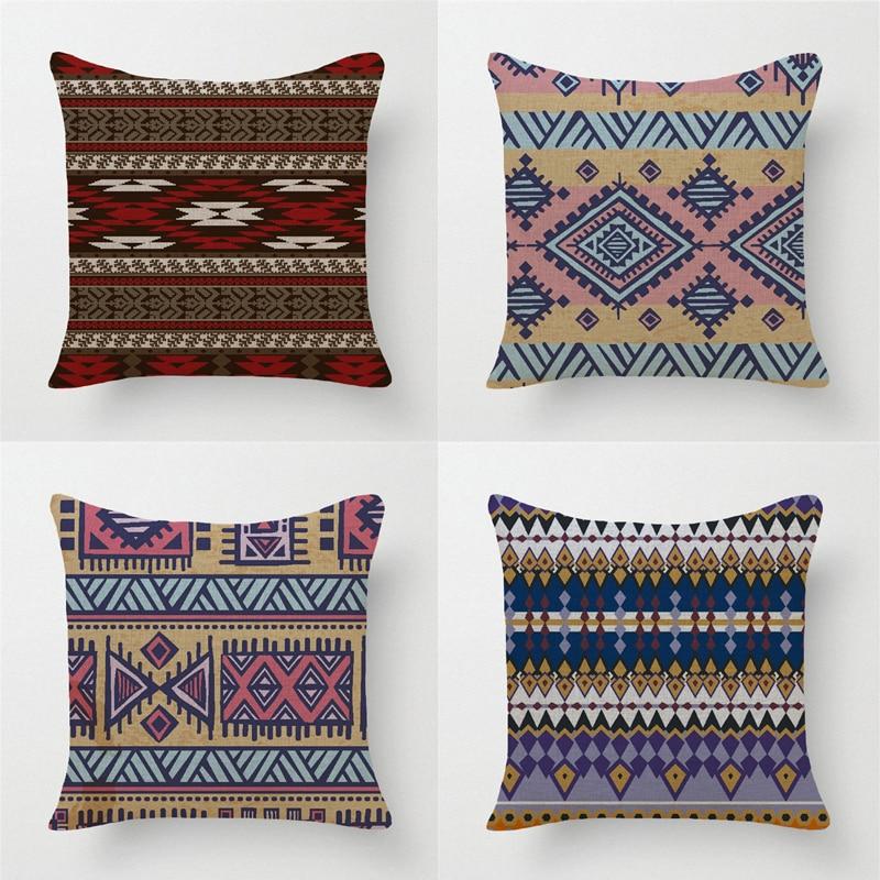 Tela Europea almohadas decorativas Europa estilo geométrico de ...