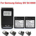 Free Shipping High Quality 2x Replacement Battery 2800mAh + YIBOYUAN USB Wall Charger for Samsung Galaxy SIV S4 i9500
