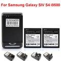 O envio gratuito de alta qualidade 2x substituição da bateria 2800 mah + yiboyuan usb carregador de parede para samsung galaxy i9500 siv s4
