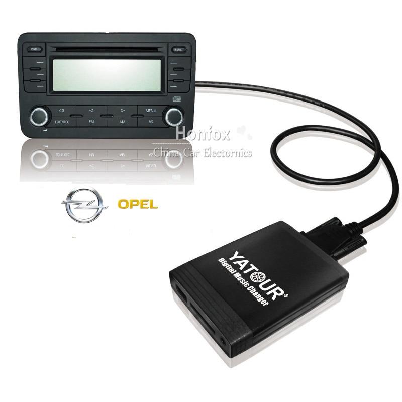 все цены на Yatour CD Changer YT-M06 For Opel Insignia Signum Tigra Vectra C Zafira B USB MP3 SD AUX adapter Digital music Changer онлайн