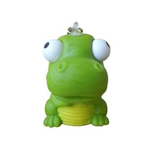 1pcs 5cm dinosaur Animal Vent Anti Stress Ball Novelty Fun Extruding Big Raised Eyes Doll Keychain Squeezing Toy birthday gift