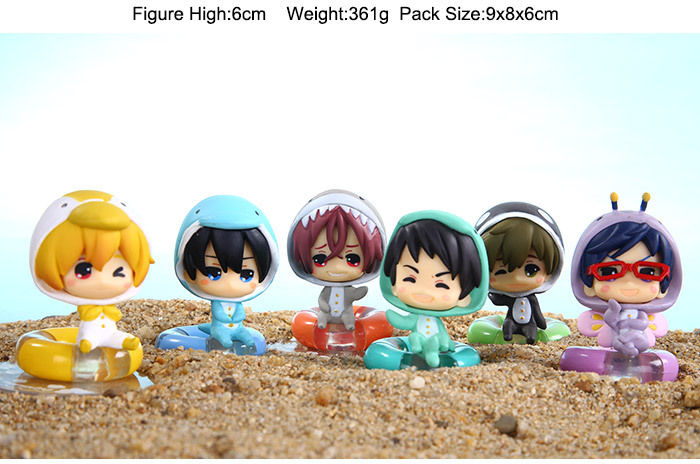 Free! Haruka Mako Rin Nagis 1/10 Car Toys Decoration PVC Action Figure Toys Collectible Model 6cm 6pcs/set KT1351 моторный ледобур eskimo mako 43cc 10 250мм quantum m43q10