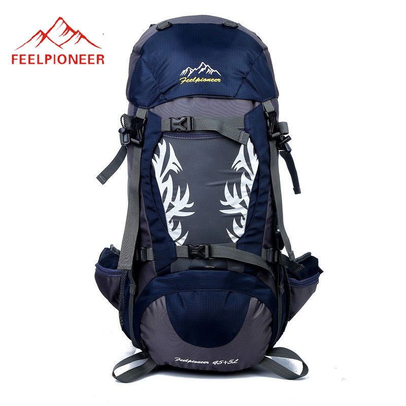 50L Camping Backpack Mountaineering Backpacks Men Women Hunting Hiking Travel Rucksack Profeesional Waterproof Climbing XA437WA waterproof travel 50l hiking backpack sports backpack for women men outdoor camping climbing bag mountaineering rucksack