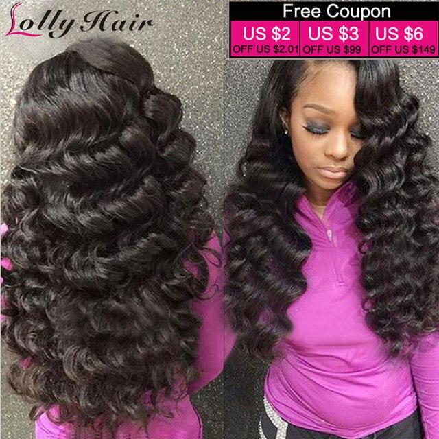 9e093cce2 8A Malaysian Virgin Hair Loose Wave Malaysian Loose Wave Virgin Hair 3  Bundle Deal Human Hair Loose Curly Malaysian Hair Bundles