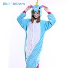 Winter Cute Cartoon Animal Pegasus Unicorn Pajamas Flannel Hooded Long Sleeve Adult Sleepwear For Women Unicornio Licorne Femmes