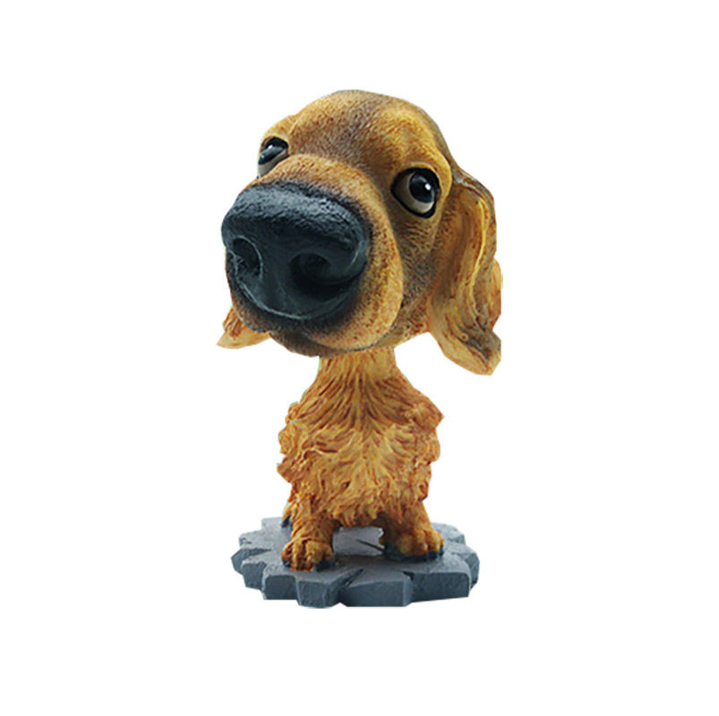Ornaments Creative Imitation Resin Famous Dog Shake head Puppy dog Car Furnishing Articles Decoration Interior Accessories