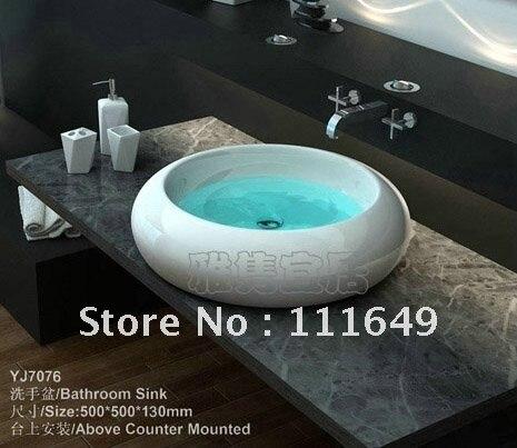 Free Drains Shipping 7076 Bathroom Ceramic Small Counter Top Wash Hand Bowl Basin Cabinet