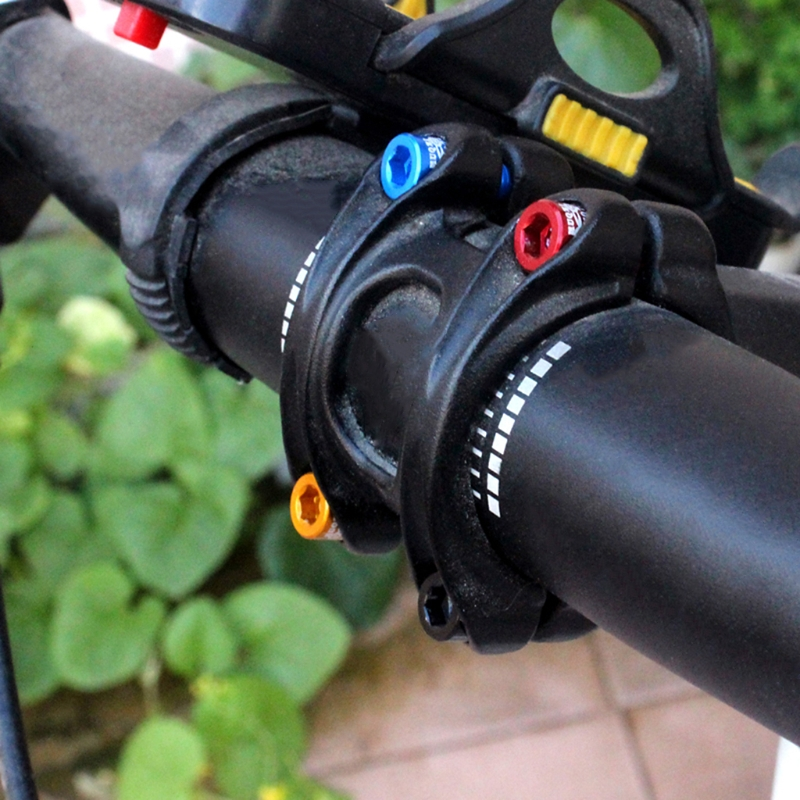 4pcs//bag Bicycle Handlebar Stem Screw M5x17mm Aluminum Alloy Bolt Fixed Gear New