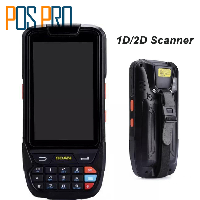 Smart Mobile Phone Handheld pda with bluetooth 4.0 3g 4g Android Barcode reader with 8MP camera NFC GPS data collector