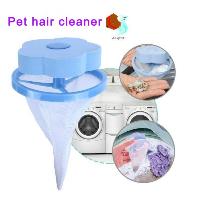 2019 Hottest Floating Pet Fur Catcher Reusable Hair Remover Tool For Washing Machine Cat Dog Clean Tool