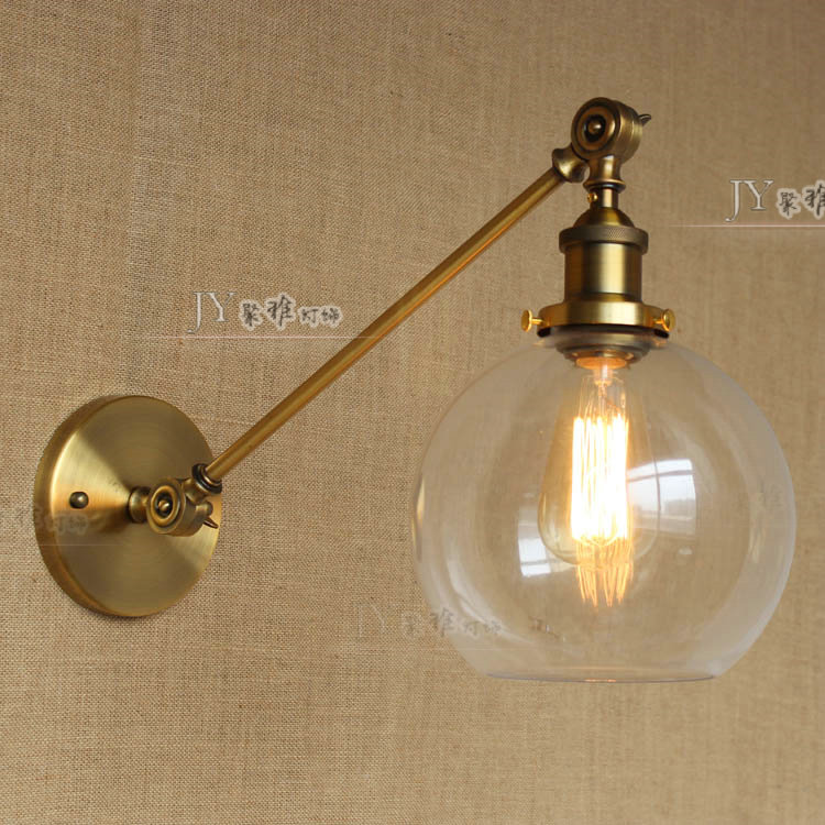 E27 Vintage Industrial Wall Lamp Loft Creative Swing Arm Sconce Balcony Stair Porch Restaurant Bar Bedroom Wall Light Home Light artpad e27 vintage led double wall mount light ac 110 240v balcony stair porch hotel bar simple retro folding reading wall lamp