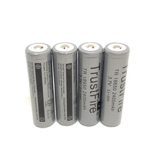 18pcs/lot TrustFire Protected TR 18650 3.7V 2400mAh Lithium Battery Rechargeable Batteries with PCB For Camera Torch Flashlight