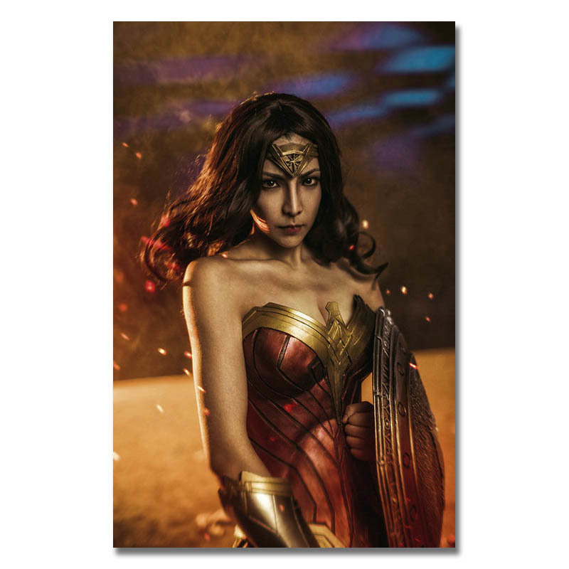 Justice League Superhero Wonder Woman Gal Gadot Movie Poster 13x20 inch