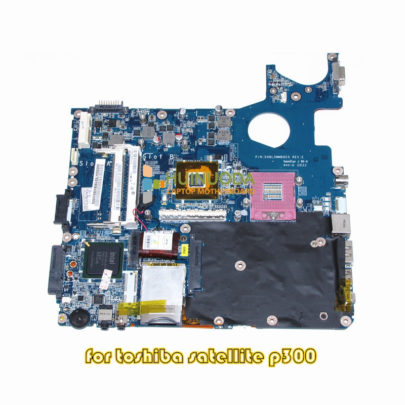 NOKOTION DABL5MMB6E0 A000034760 For toshiba satellite P300 P350 laptop motherboard PM45 DDR2 With graphics slot nokotion for toshiba satellite a100 a105 motherboard intel 945gm ddr2 without graphics slot sps v000068770 v000069110