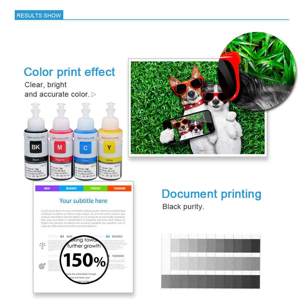 Tinta Dye Tinta Isi Ulang Kit Untuk Epson L100 L110 L120 L132 L210 L222 L300 L312 L355 L350 L362 L366 L550 l555 L566 L375 Tinta Printer