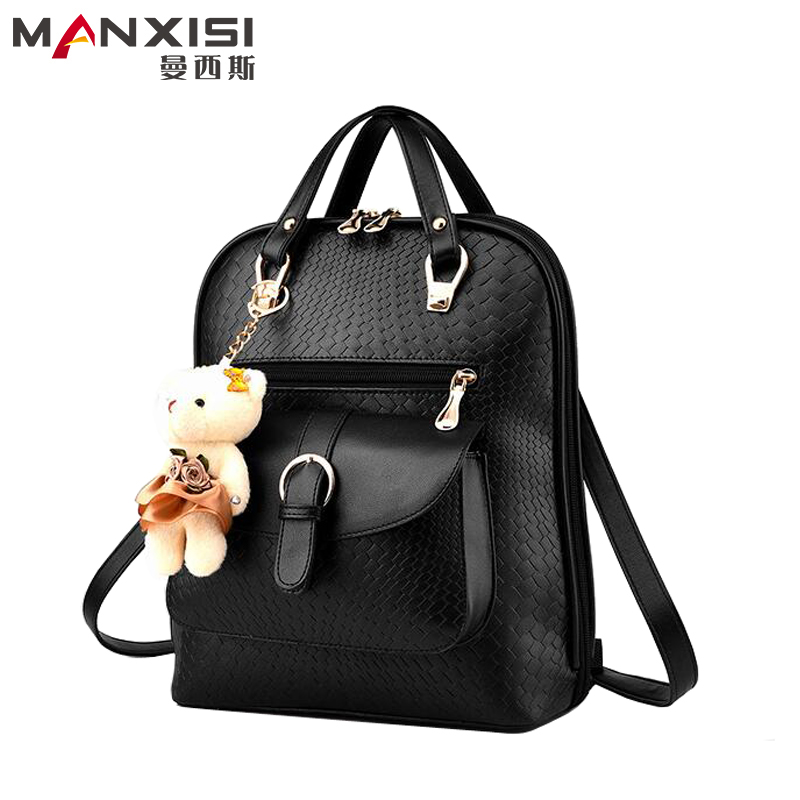 Fashion Women Backpack Famous Brand Design PU Leather Backpacks School Bags High Quality Ladies Shoulder Bag Women's Travel Bags luxury fashion retro pu leather famous brand women backpack american style ladies dark green bag college student school bags