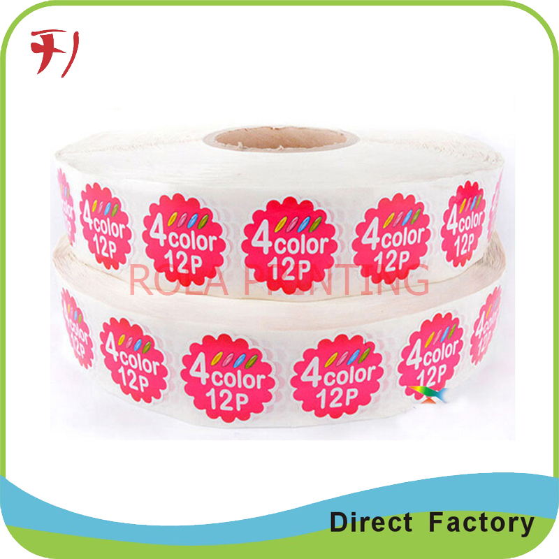 factory price custom matt logo sticker printing, waterproof vinyl logo sticker, adhesive round logo seal stikcer