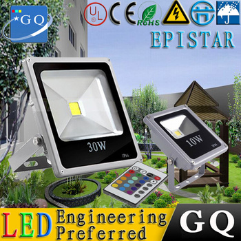 6pc GQ lighting 10W 20w 30w 50w 70W 100W 150W 200W  RGB led flood light projector search  85-265V