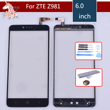 купить 10pcs/lot Touch Screen Digitizer For ZTE ZMax Pro Z981 Touch Panel Touchscreen Lens Front Glass Sensor NO LCD Z981 Replacement по цене 2784.36 рублей