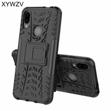 For Xiaomi Redmi Note 7 Case Shockproof Cover Armor Rubber Hard Phone Case Back Cover For Xiaomi Redmi Note 7 Kickstand Fundas все цены