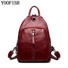 YOOFISH  New 2017 Fashion Women Backpack or men Travel leather School Bags LJ-948