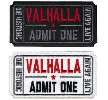 Билет в Валгаллу Военные Патчи Вышитые Мораль Тактических Vikings Безумный Макс Повязки Значки Аппликации для Одежды с Крюком