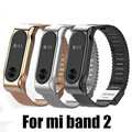 Fashion Metal Strap For Xiaomi Mi Band 2 Straps Screwless Stainless Steel Bracelet Smart Band Replace Accessories For Mi Band 2