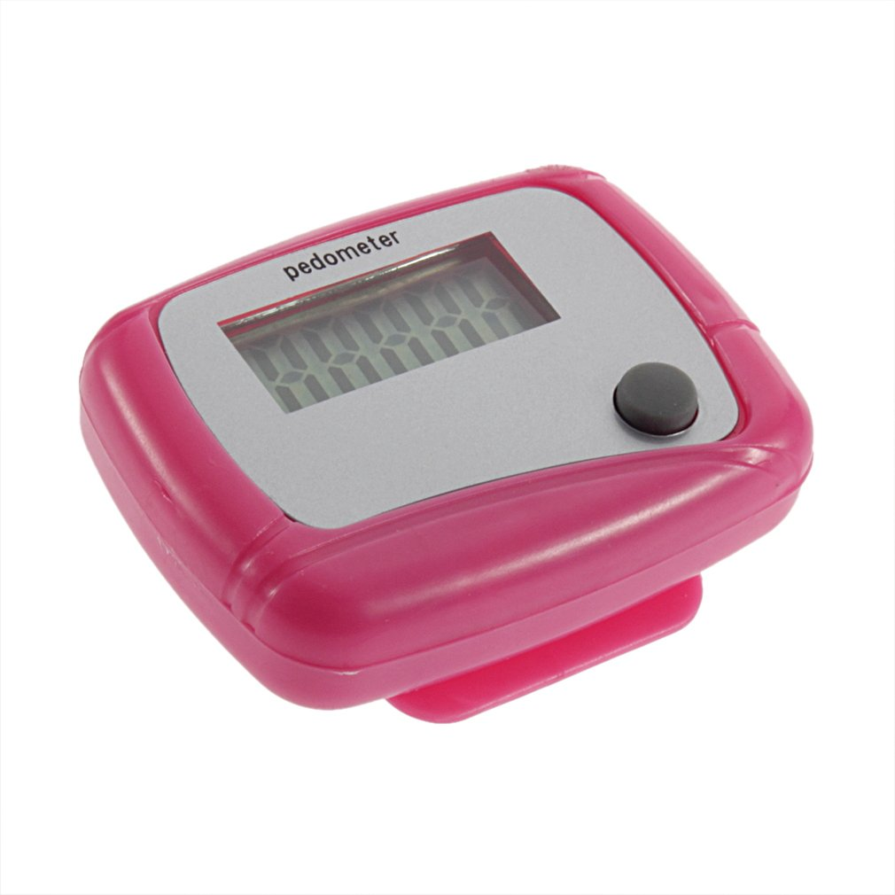 New Electronic Digital LCD Step Run Pedometer Walking Distance Calorie Counter pink