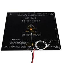 MK2A aluminum heatbed hot plate 300*300*3mm black 12V 24V for Mendel RepRap RAMPS 1.4 3d printer parts