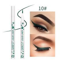 Colorful Waterproof Fast Dry Liquid Eyeliner Matte Eye Liner Pencil Thin Head Eye Liner Pen Make Up Beauty Tool R6 цена